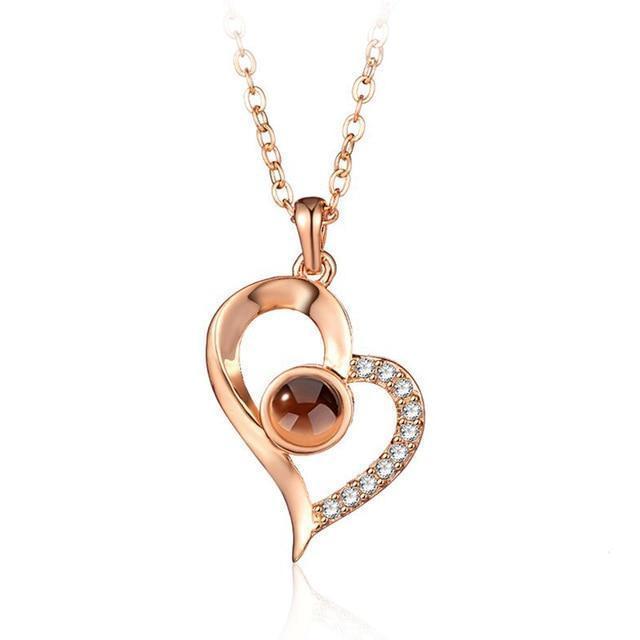 Hidden Message Lovers Necklace