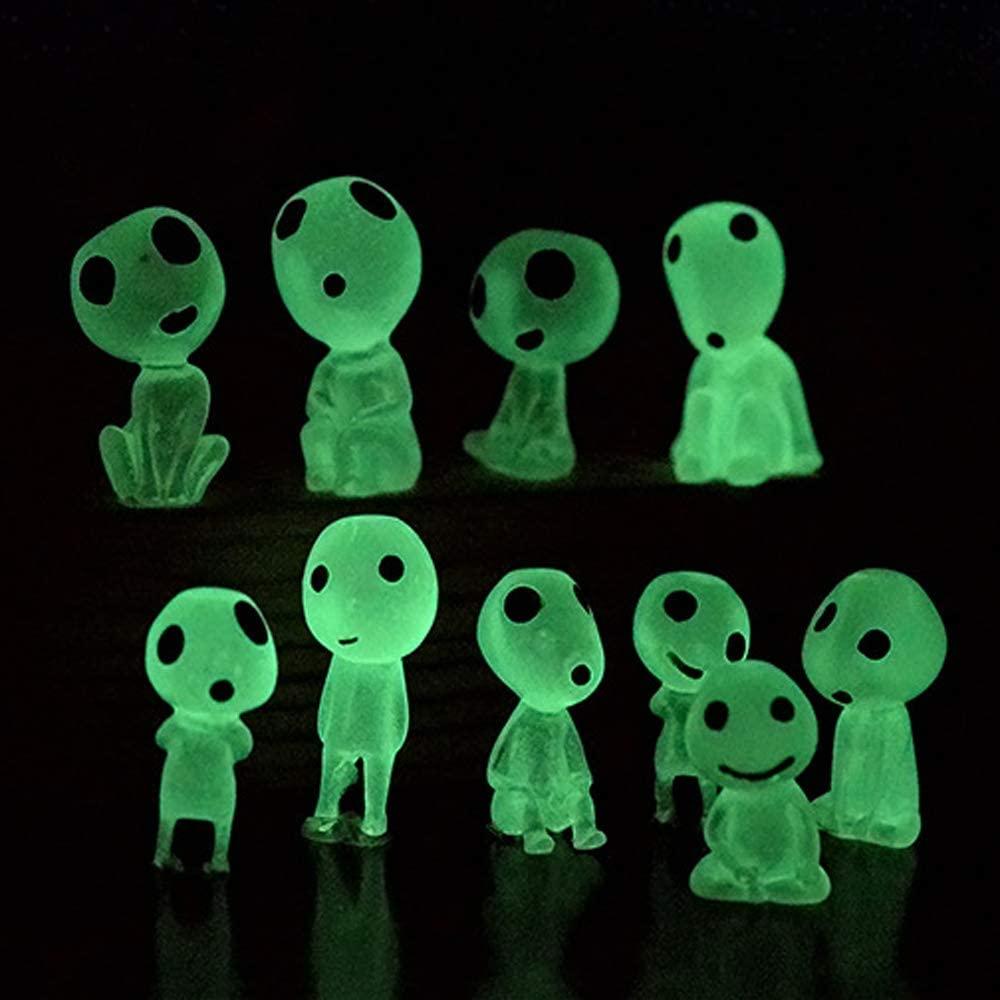 10 Piece Glow In The Dark Luminous Tree Elves