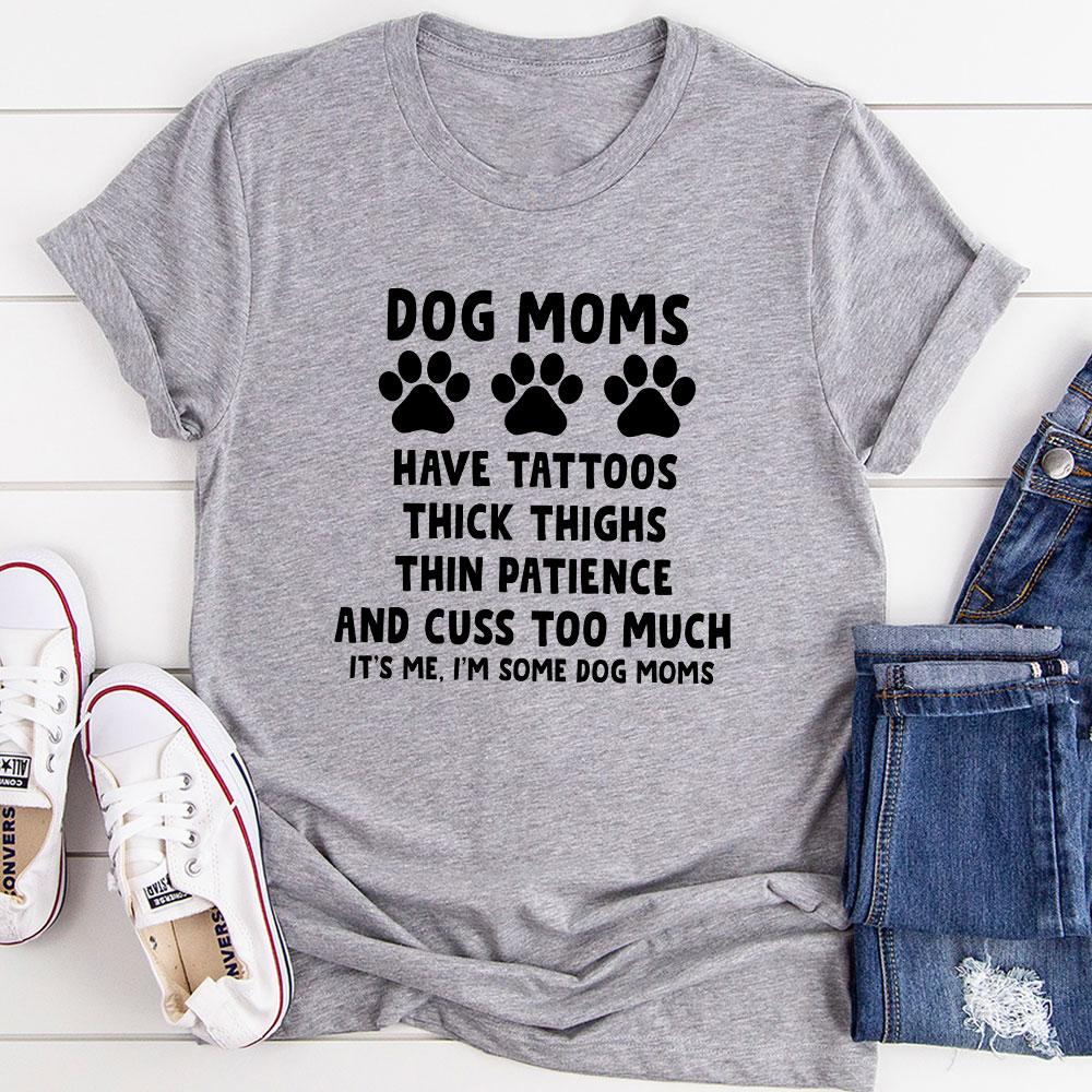 Dog Moms T-Shirt (Athletic Heather / L)