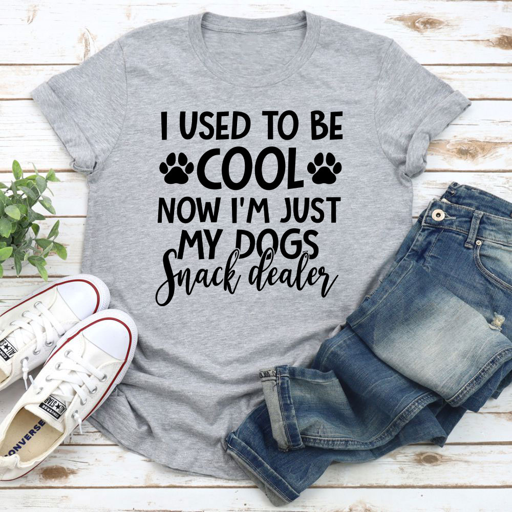 I Used To Be Cool Now I'm Just My Dogs Snack Dealer T-Shirt (Athletic Heather / L)