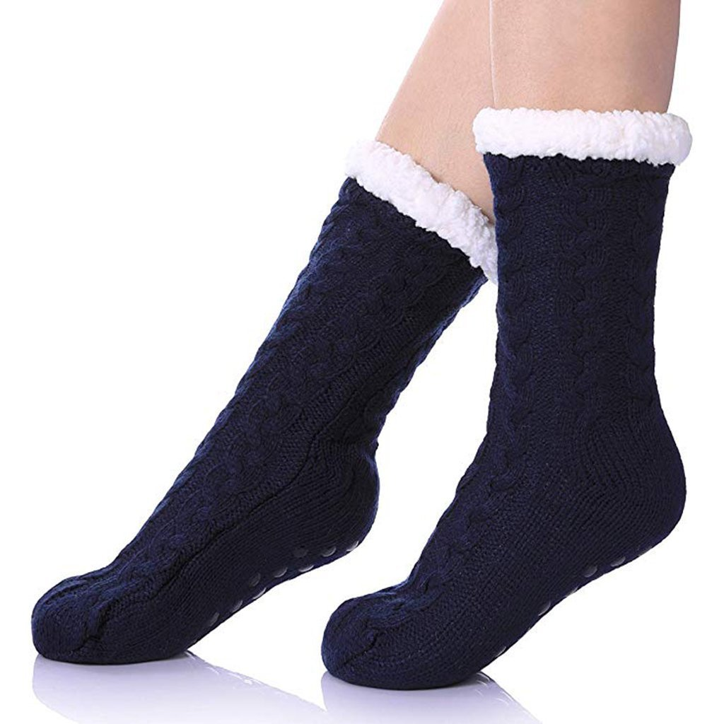 Sherpa Lined Slipper Socks