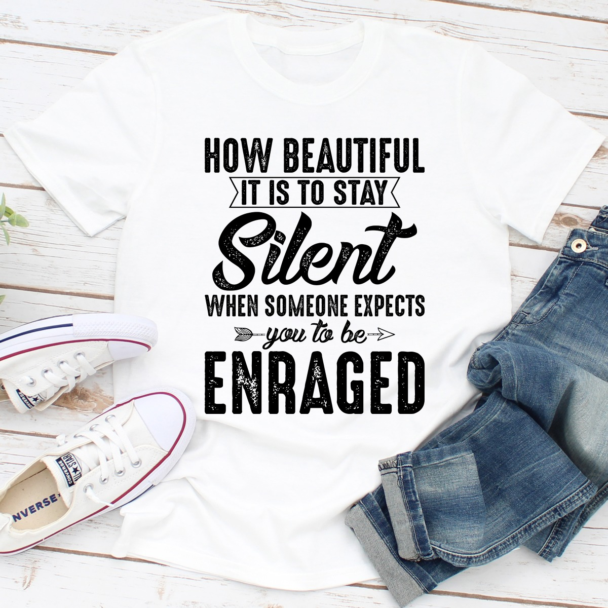How Beautiful It Is To Stay Silent (White / 3Xl)