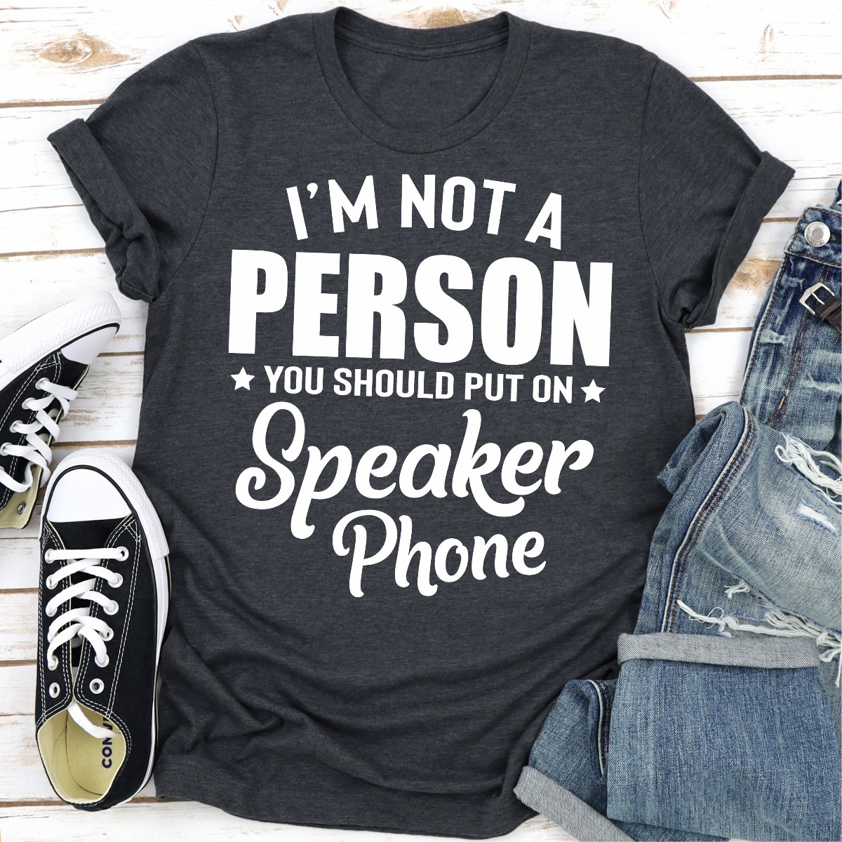 I'm Not A Person You Should Put On Speaker Phone (Dark Heather / 2Xl)