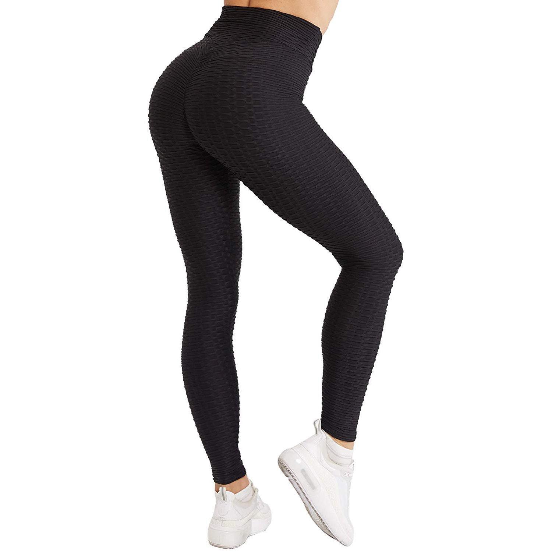 Anti-Cellulite Compression Peach Lift Leggings For Women - Black/M