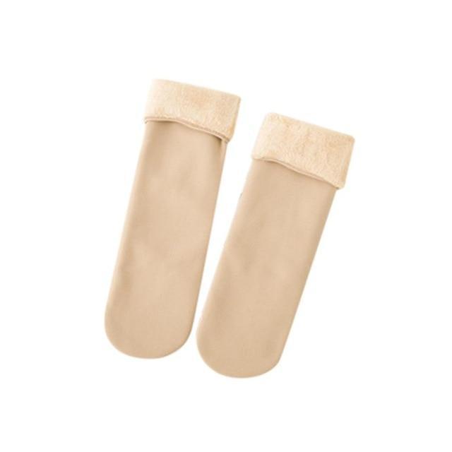 Cozy Faux Fur Socks-Beige