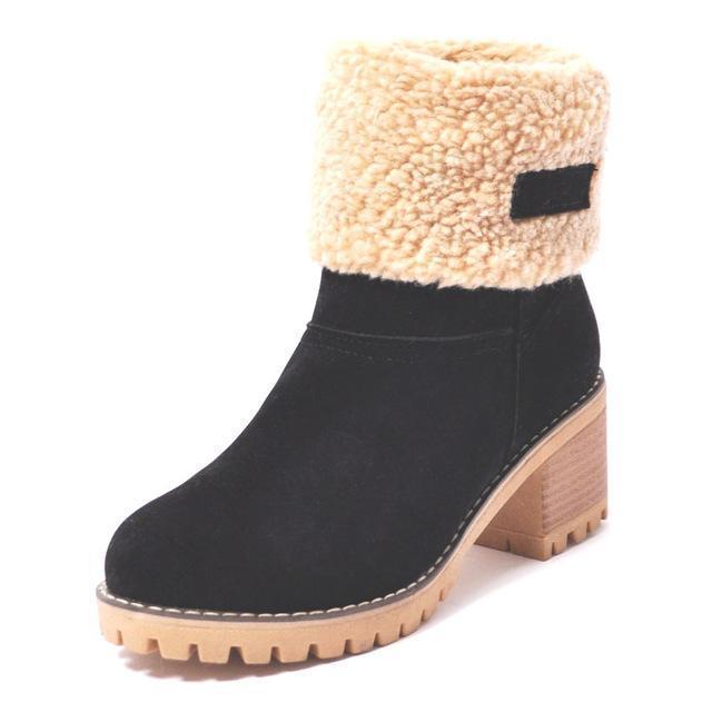 Women's Block Heel Snow Boots