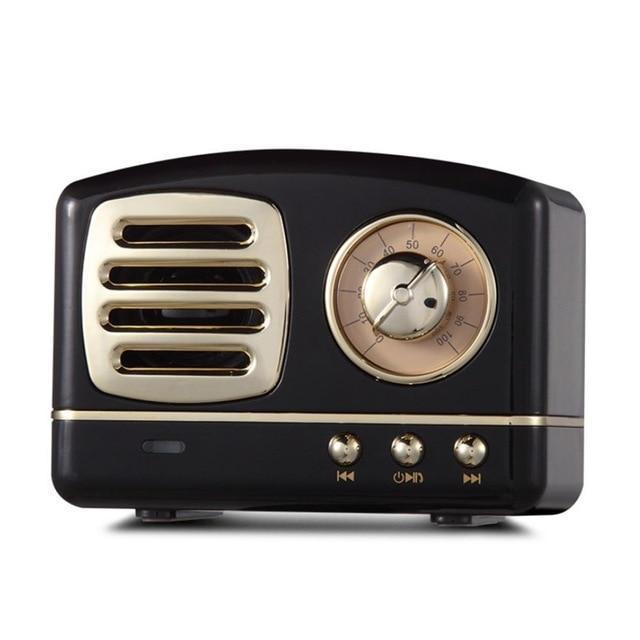 Vintage Bluetooth Speaker-Black