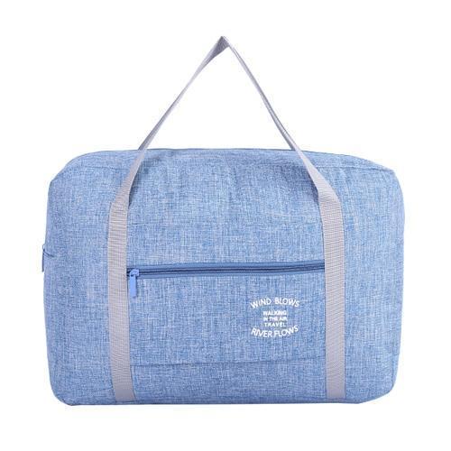 Foldable Weekender Bag-Blue