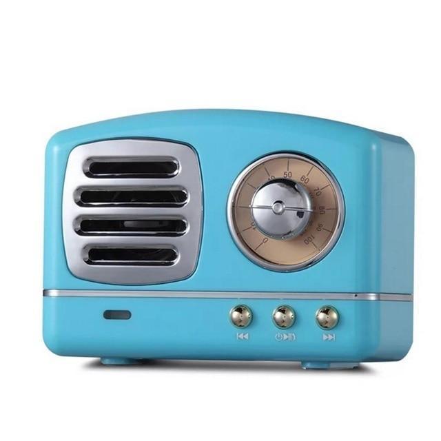 Vintage Bluetooth Speaker-Blue