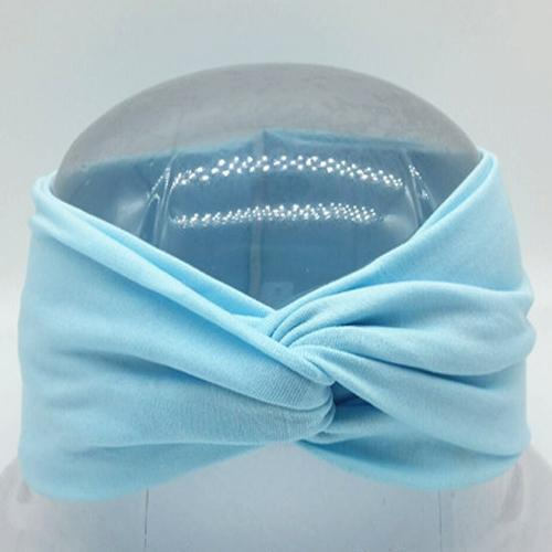 Boho Twist Headbands-Baby Blue
