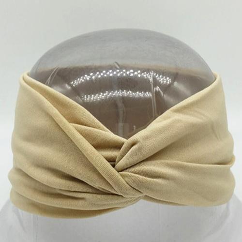 Boho Twist Headbands-Beige