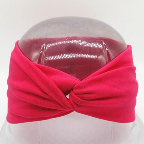 Boho Twist Headbands-Hot Pink