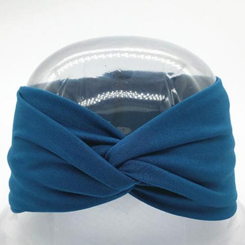 Boho Twist Headbands-Indigo