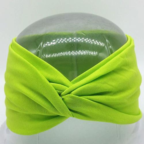 Boho Twist Headbands-Lime Green