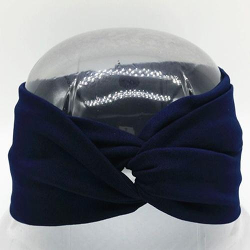 Boho Twist Headbands-Navy
