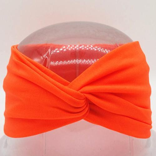 Boho Twist Headbands-Neon Orange