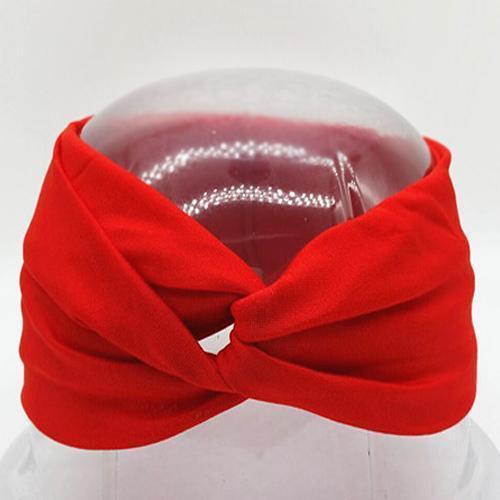 Boho Twist Headbands-Red