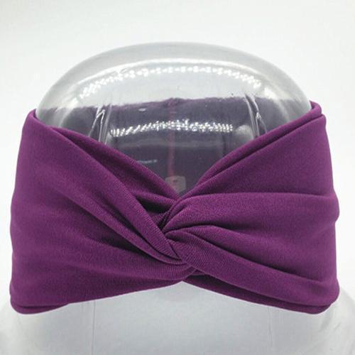 Boho Twist Headbands-Violet