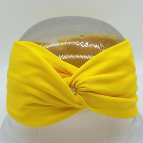 Boho Twist Headbands-Yellow