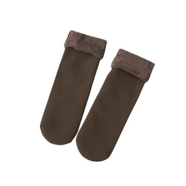 Cozy Faux Fur Socks-Brown