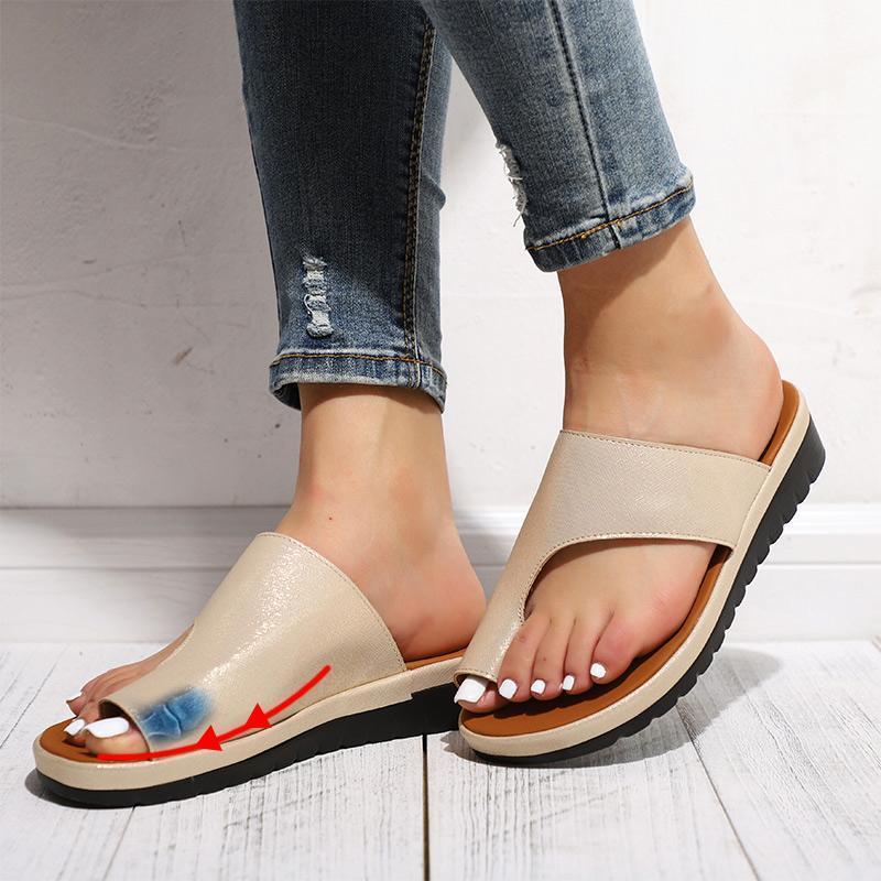 Bunion Corrector Platform Sandals-5 / Gold