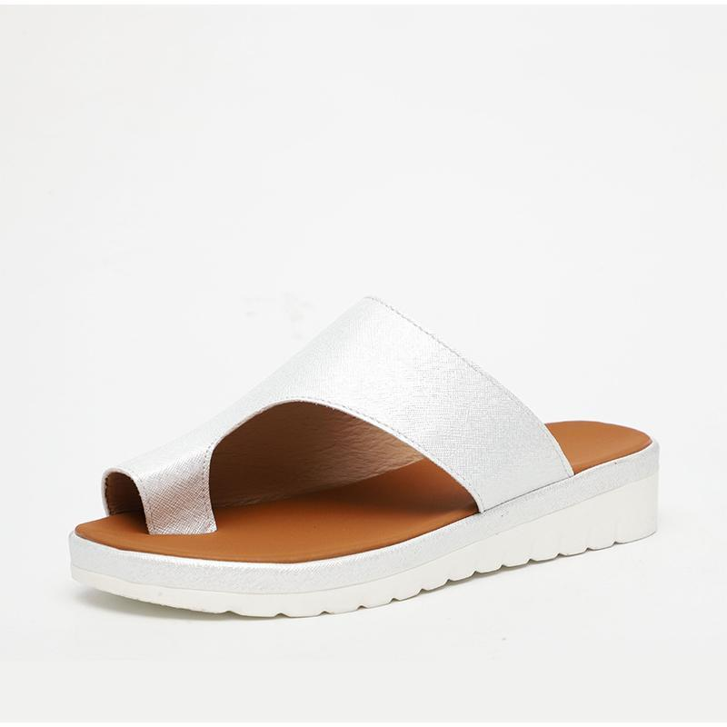 Bunion Corrector Platform Sandals - Silver/5