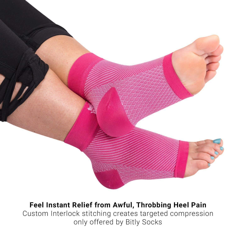 compression plantar fasciitis socks-s-m / pink