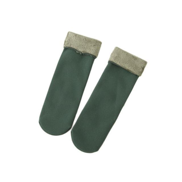 Cozy Faux Fur Socks-Green