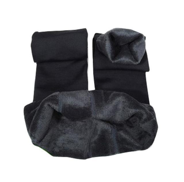 Cozy Faux Fur Leggings-S / Gray