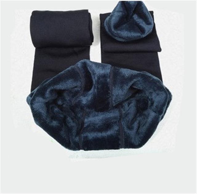 Cozy Faux Fur Leggings-S / Navy Blue