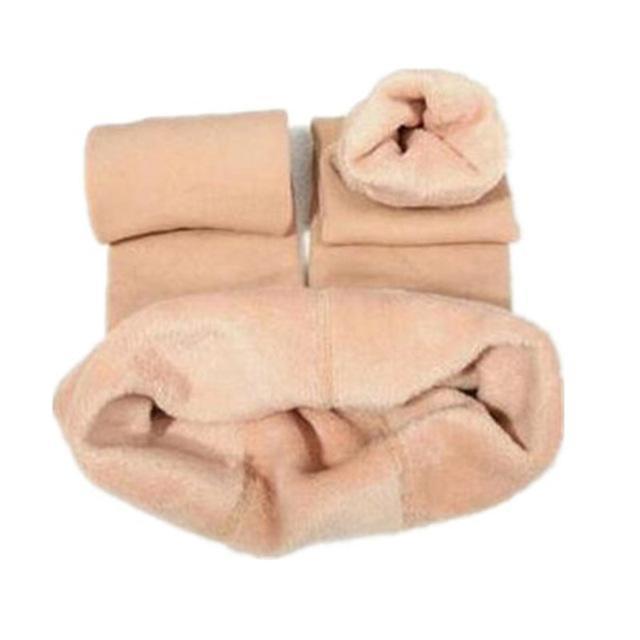 Cozy Faux Fur Leggings-S / Nude