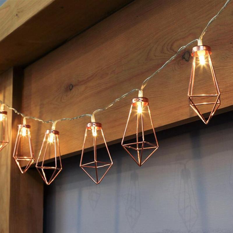 Craft Rose Gold Lantern Light