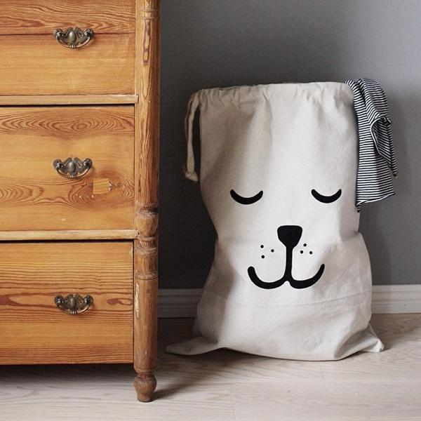 cute storage & laundry bags-sleepy