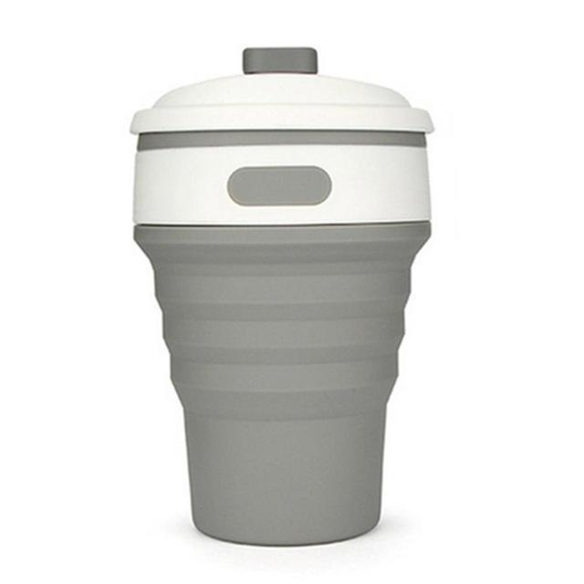 Eco Collapsible/Foldable Coffee Cup-Gray