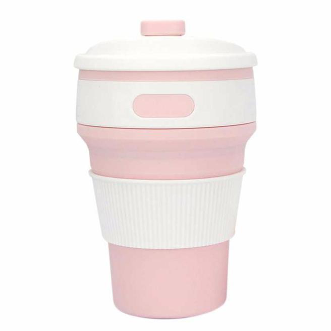 Eco Collapsible/Foldable Coffee Cup-Pink