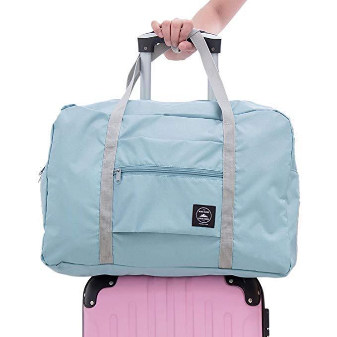 Foldable Weekender Bag-Light Blue