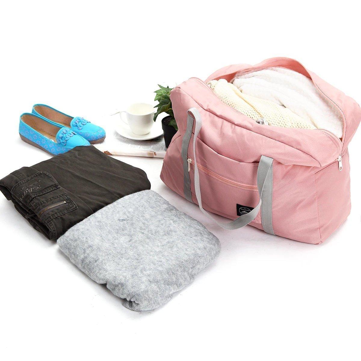 Foldable Weekender Bag-Pink