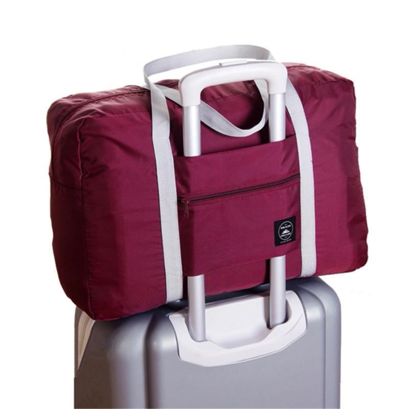 Foldable Weekender Bag-Wine