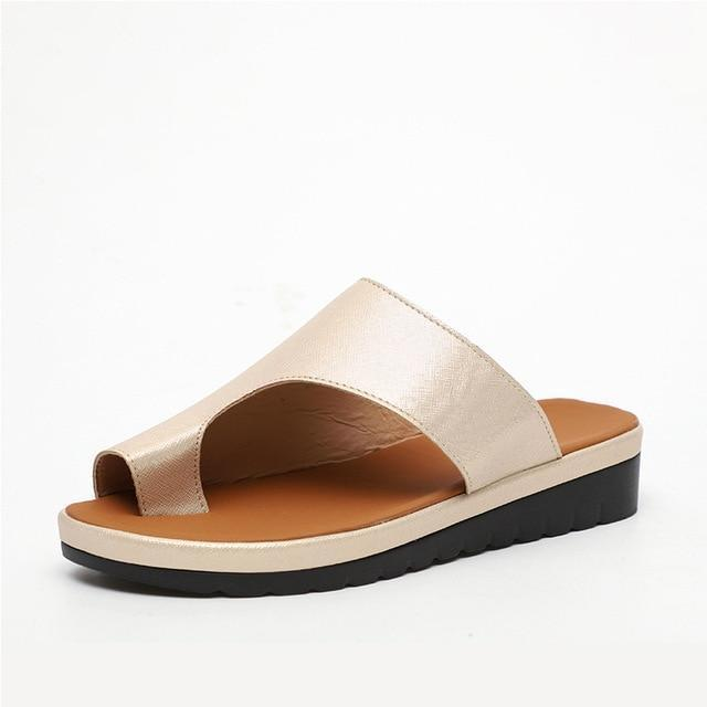bunion corrector platform sandals-6 / gold