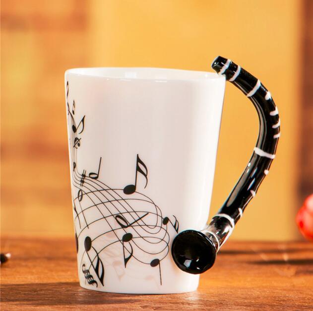 Novelty Guitar Ceramic Mug-Flute