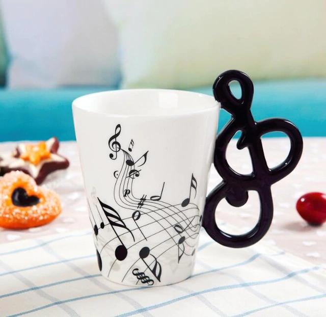 Novelty Guitar Ceramic Mug