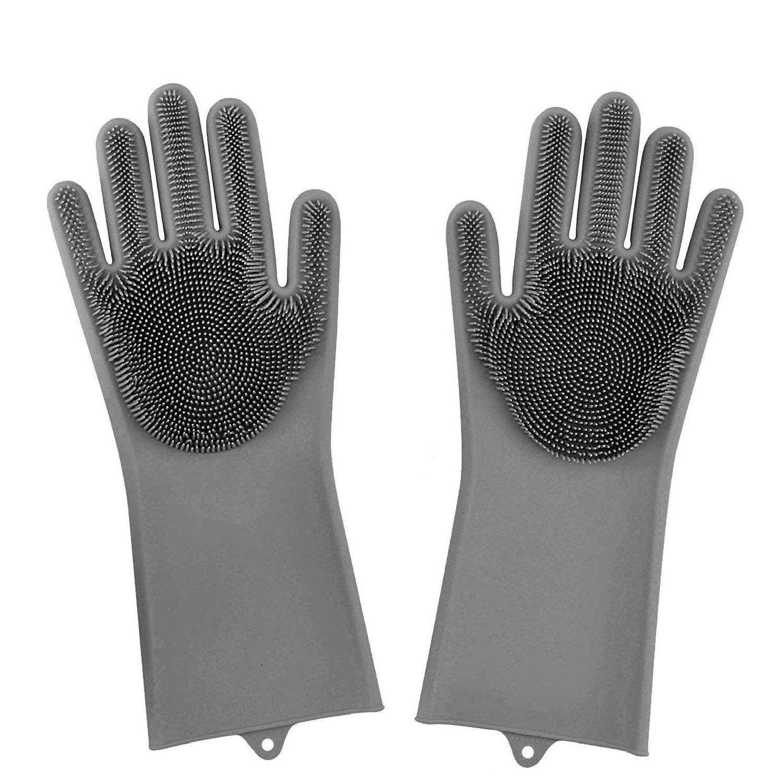 Original Magic Dishwashing Gloves (Bpa Free)-Grey