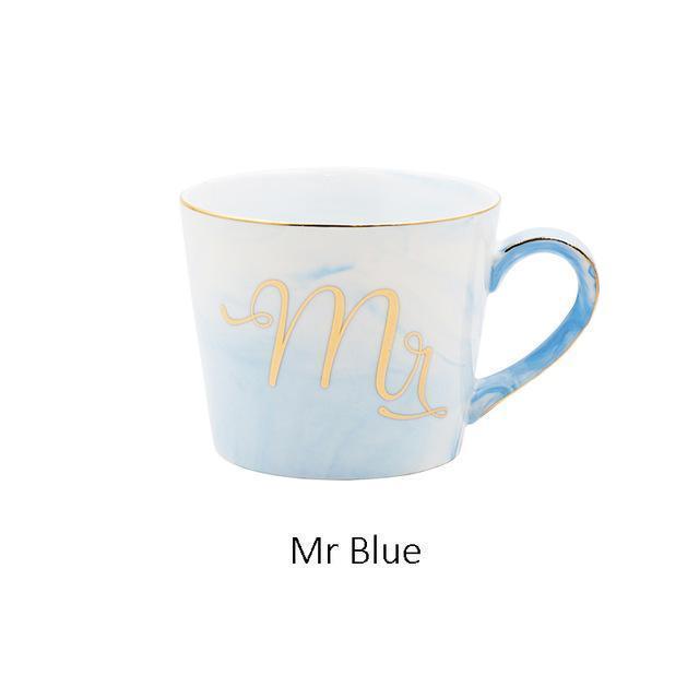 mr & mrs coffee mugs-mr blue