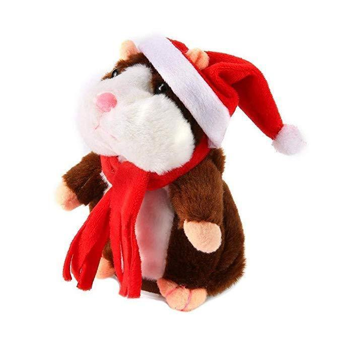 Talking Hamster Toy Repeats What You Say-Brown-Christmas Limited Edition