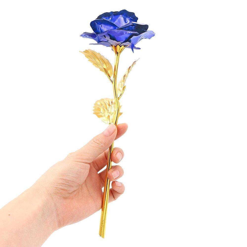 Everlasting Gold Rose-Blue