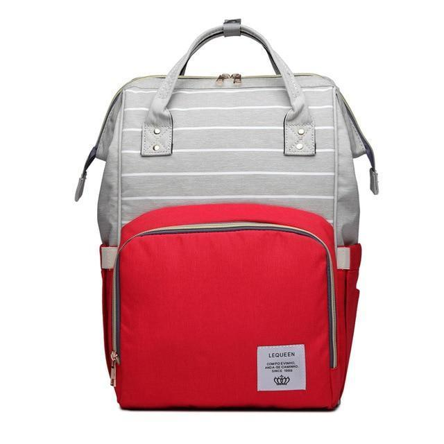 Deluxe Mommy Diaper Backpack-Red Striped