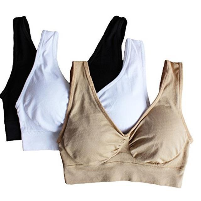 Seamless Push Up Bra Plus Set Of 3 - Nude, White And Black/M