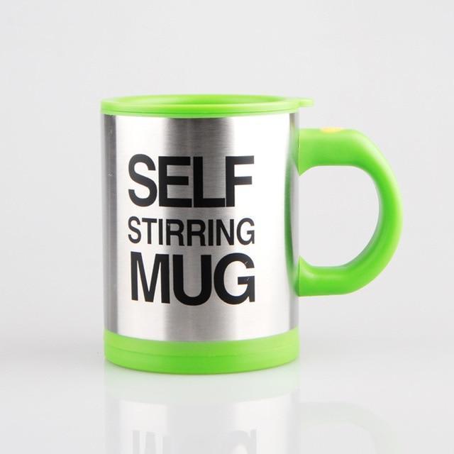 Self-Stirring Coffee Mug-Green