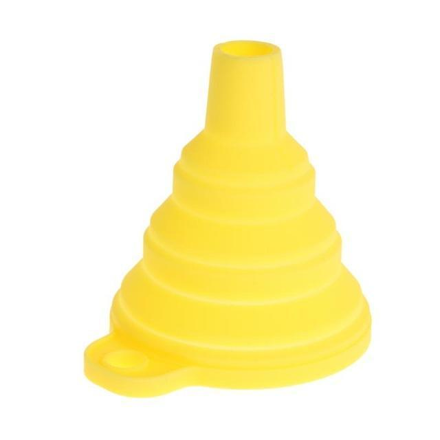 Silicone Foldable Funnel-Yellow
