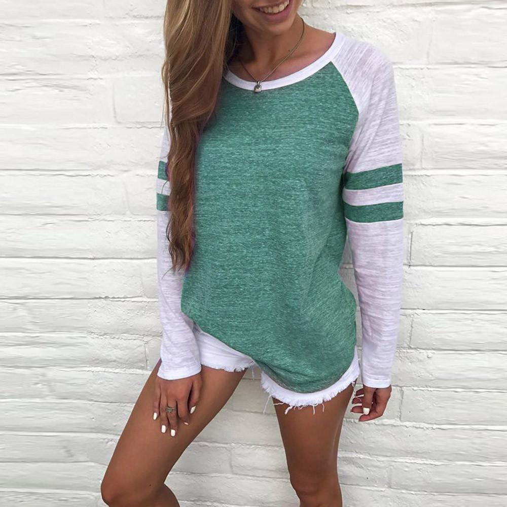 The Softest Top Colorblock-S / Green